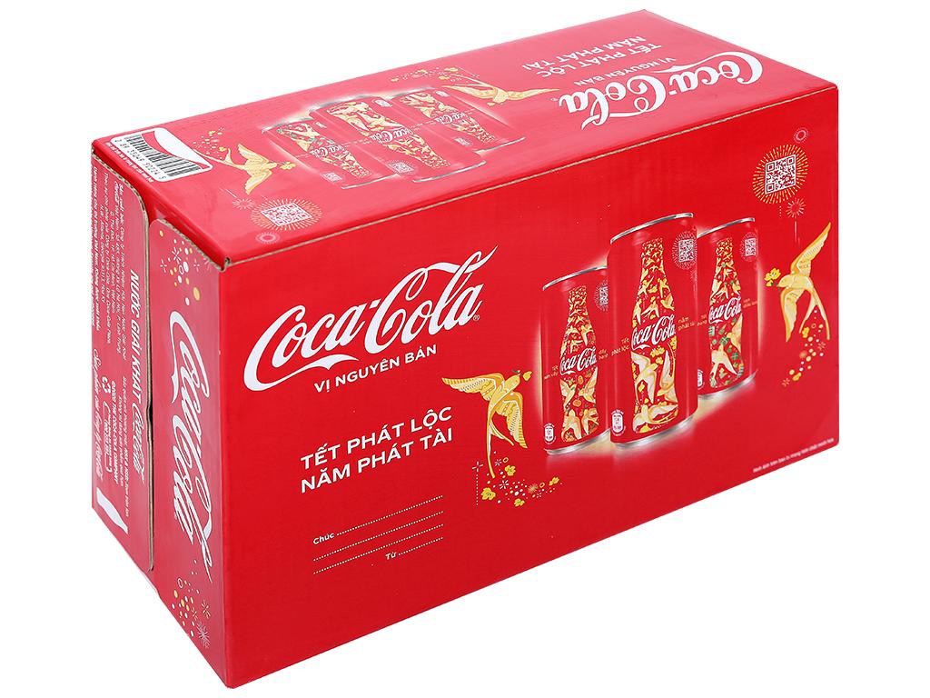 24 lon nước ngọt Coca Cola 320ml 1