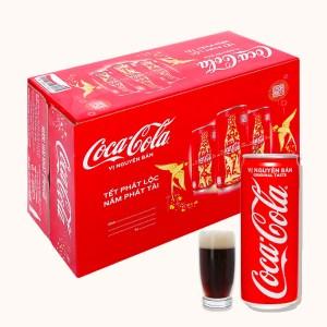 24 lon nước ngọt Coca Cola 320ml