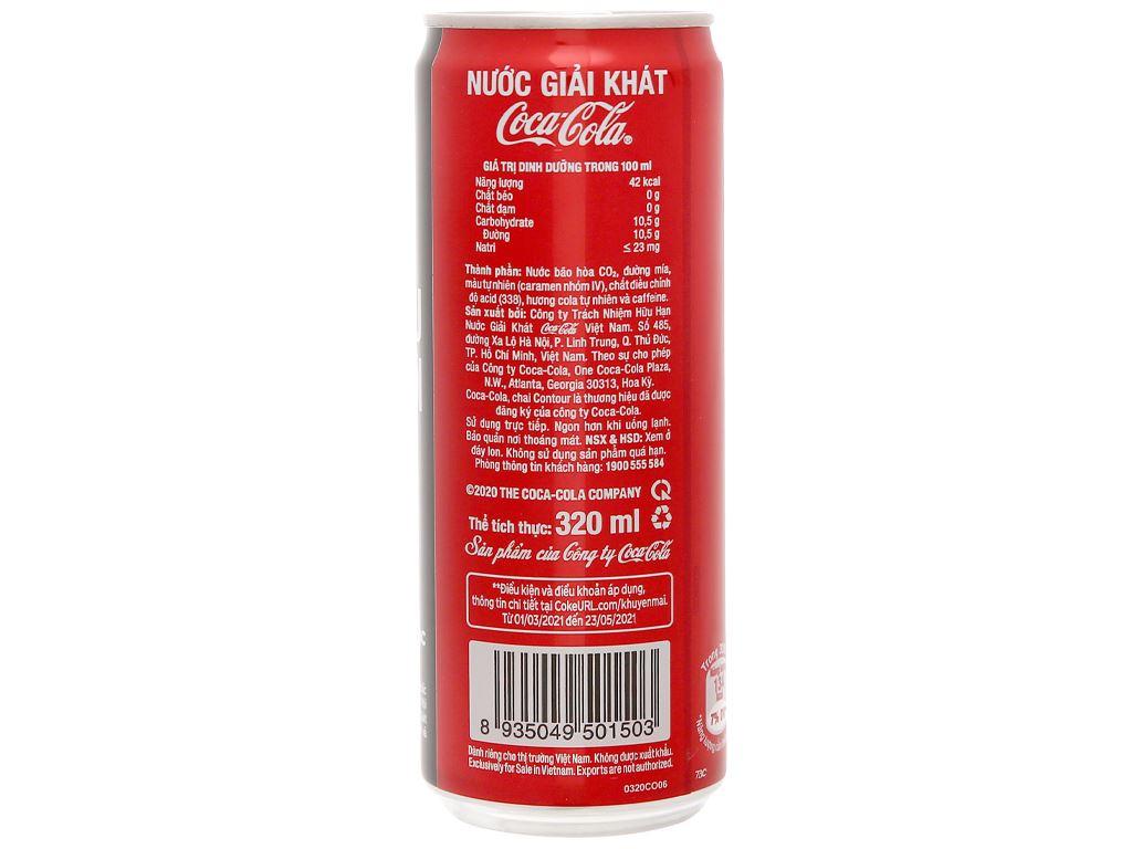 24 lon nước ngọt Coca Cola 320ml 4