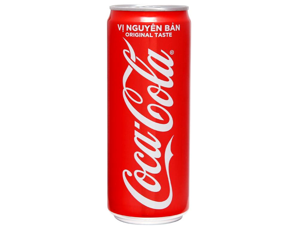 24 lon nước ngọt Coca Cola 330ml 2