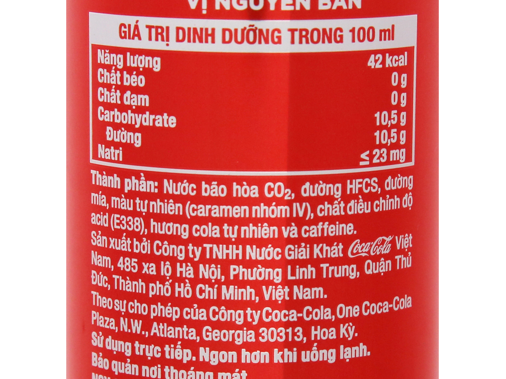 24 lon nước ngọt Coca Cola 320ml 6