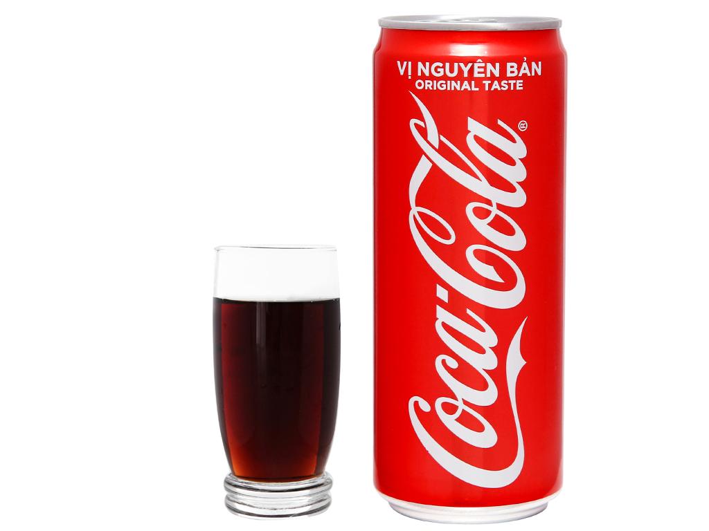 24 lon nước ngọt Coca Cola 330ml 6