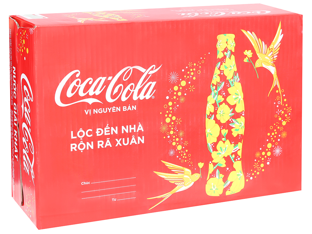 Thùng 24 lon nước ngọt Coca Cola 330ml 1