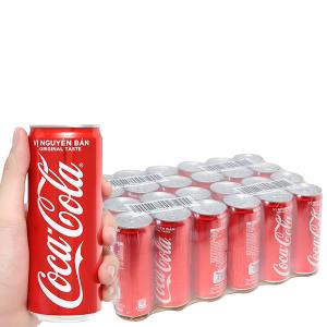 24 lon nước ngọt Coca Cola 330ml