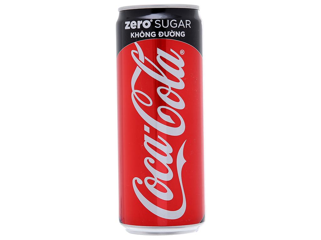Thùng 24 lon nước ngọt Coca Cola Zero 330ml 3