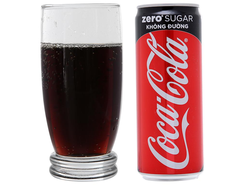 Thùng 24 lon nước ngọt Coca Cola Zero 330ml 5