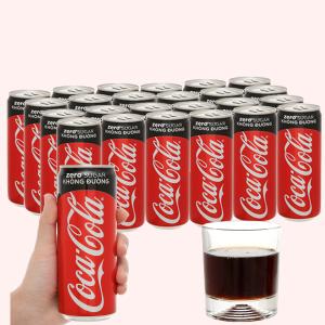 Thùng 24 lon nước ngọt Coca Cola Zero 320ml