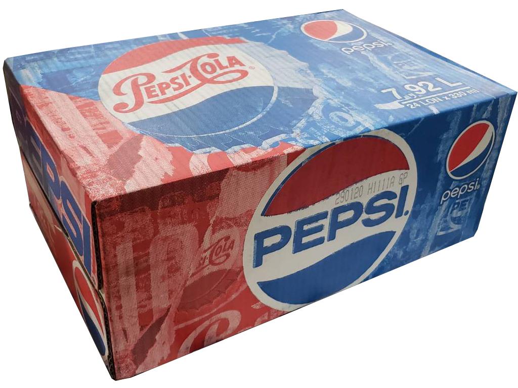 Thùng 24 lon nước ngọt Pepsi Cola 330ml 1
