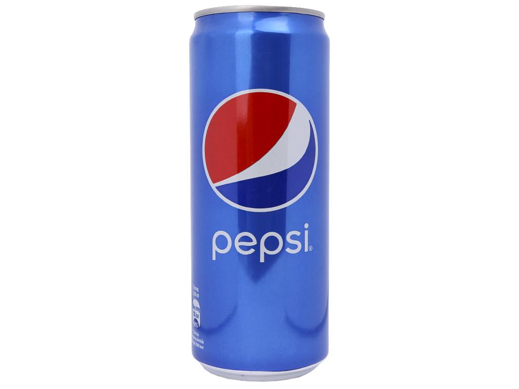 24 lon nước ngọt Pepsi Cola 330ml 2