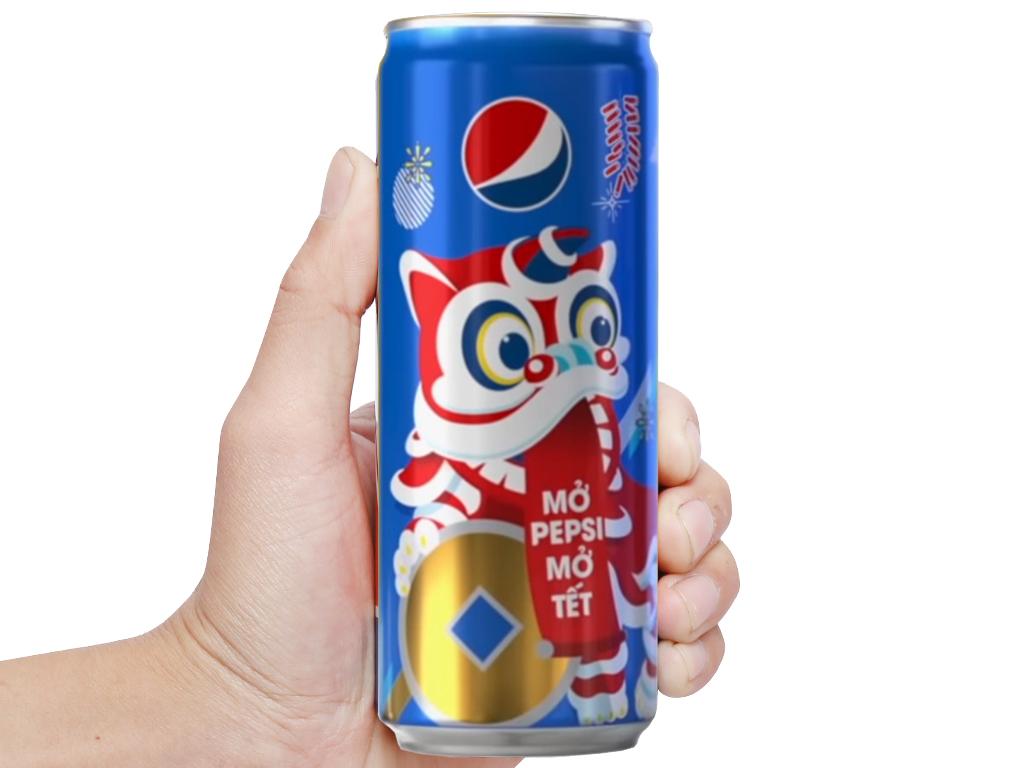 Thùng 24 lon nước ngọt Pepsi Cola 330ml 7