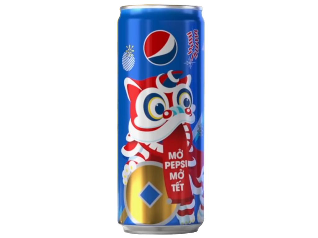 Thùng 24 lon nước ngọt Pepsi Cola 330ml 2