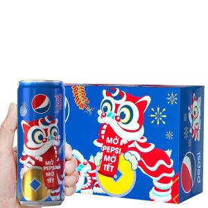 Thùng 24 lon nước ngọt Pepsi Cola 330ml
