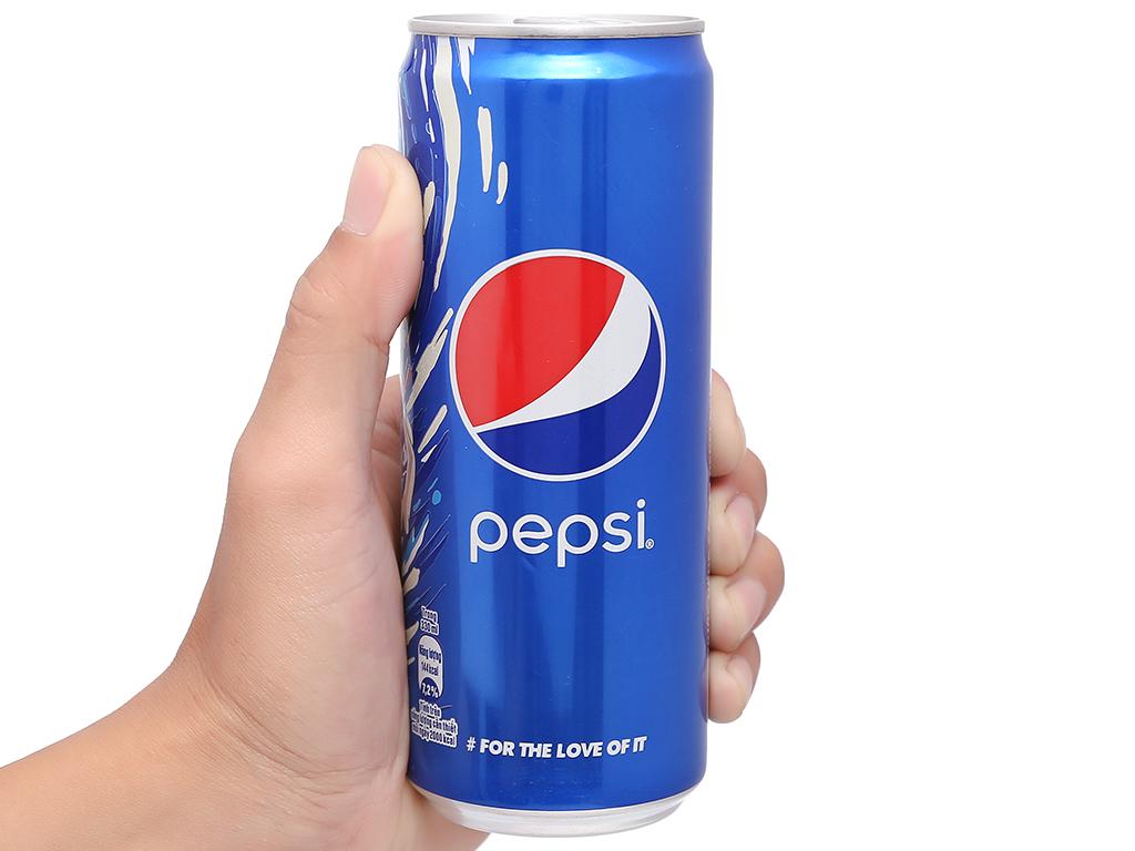 Thùng 24 lon nước ngọt Pepsi Cola 330ml 14