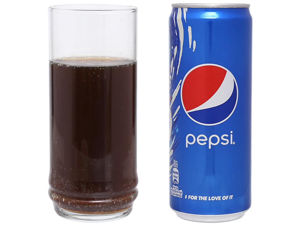 Thùng 24 lon nước ngọt Pepsi Cola 330ml 13