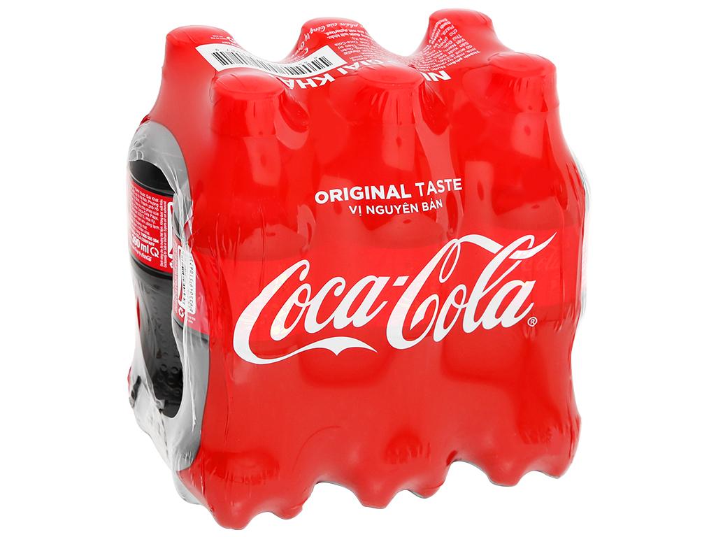 6 chai nước ngọt Coca Cola 390ml 7