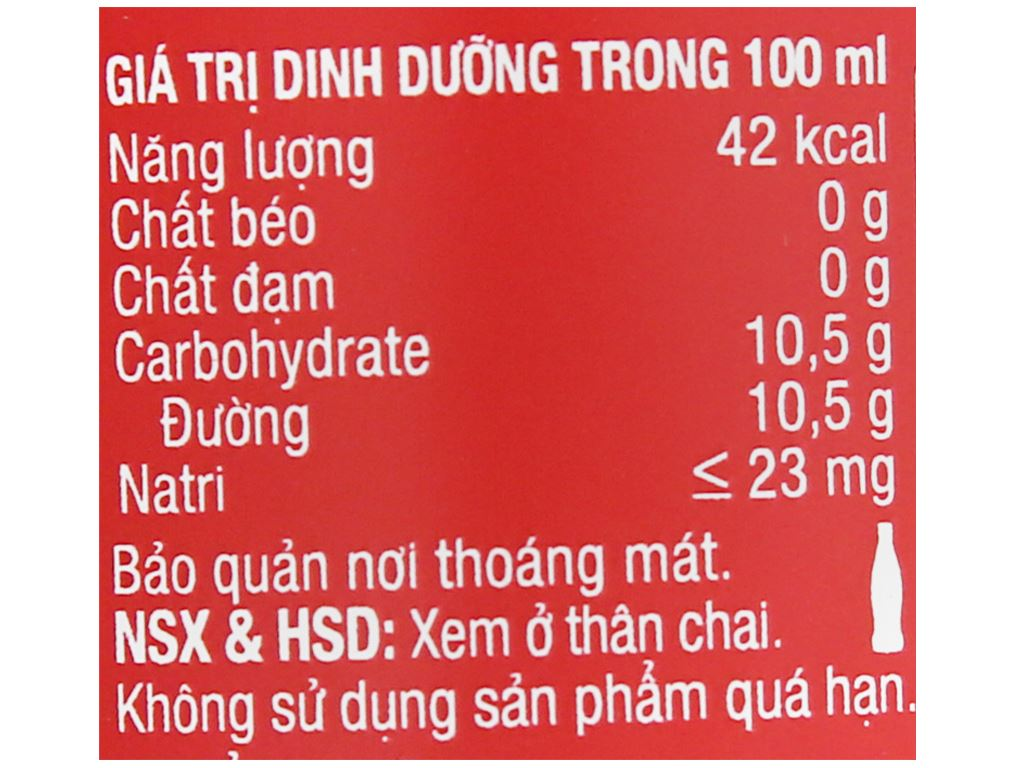 6 chai nước ngọt Coca Cola 390ml 4