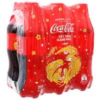 Nước ngọt Coca Cola chai 390ml (6 chai)