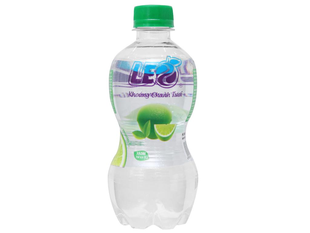 Thùng 24 chai nước khoáng có ga Leo vị chanh 350ml 2