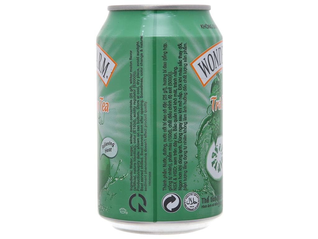 Thùng 24 lon trà bí đao Wonderfarm 310ml 4