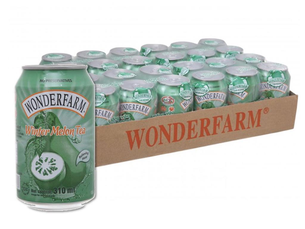 Thùng 24 lon trà bí đao Wonderfarm 310ml 1
