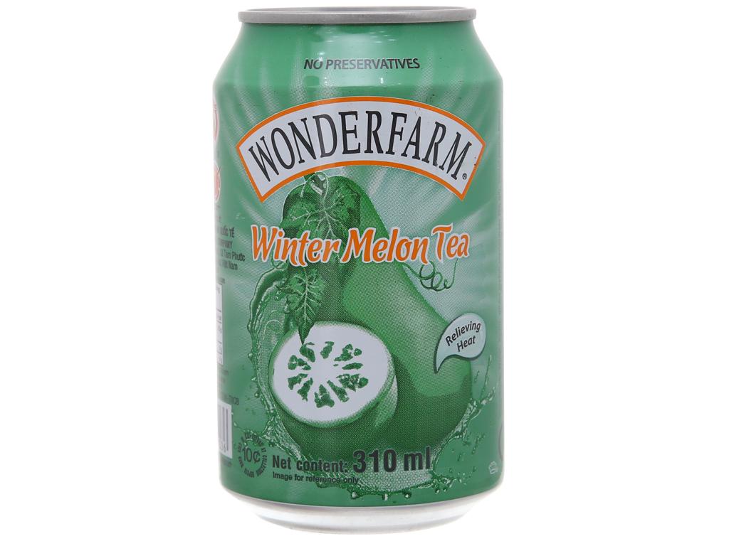 Thùng 24 lon trà bí đao Wonderfarm 310ml 2