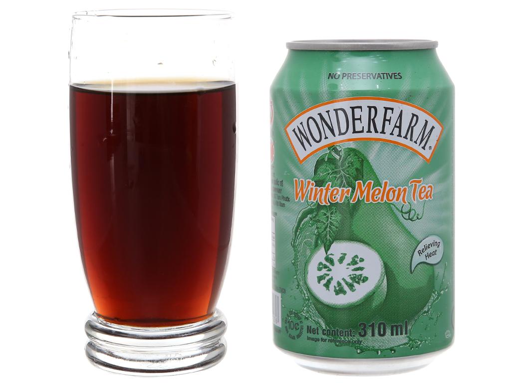 Thùng 24 lon trà bí đao Wonderfarm 310ml 5