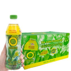 Thùng 24 chai trà xanh Không Độ 455ml