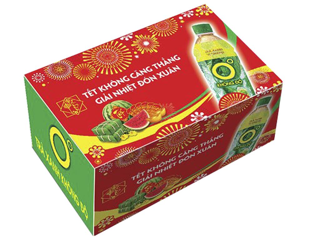 Thùng 24 chai trà xanh Không Độ vị chanh 455ml 1