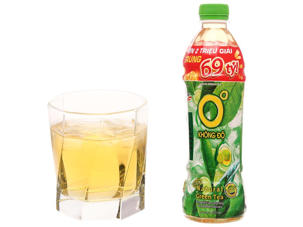 Thùng 24 chai trà xanh Không Độ vị chanh 455ml 6