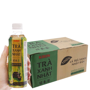 Thùng 24 chai trà xanh Nhật Kirin không đường 345ml