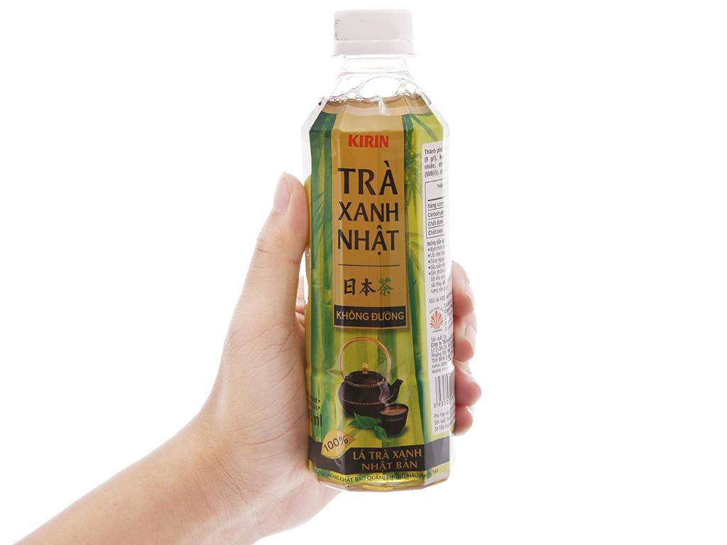 Thùng 24 chai trà xanh Nhật Kirin không đường 345ml 4