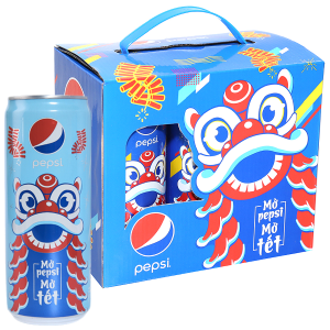 Lốc 6 lon nước ngọt Pepsi Cola 330ml
