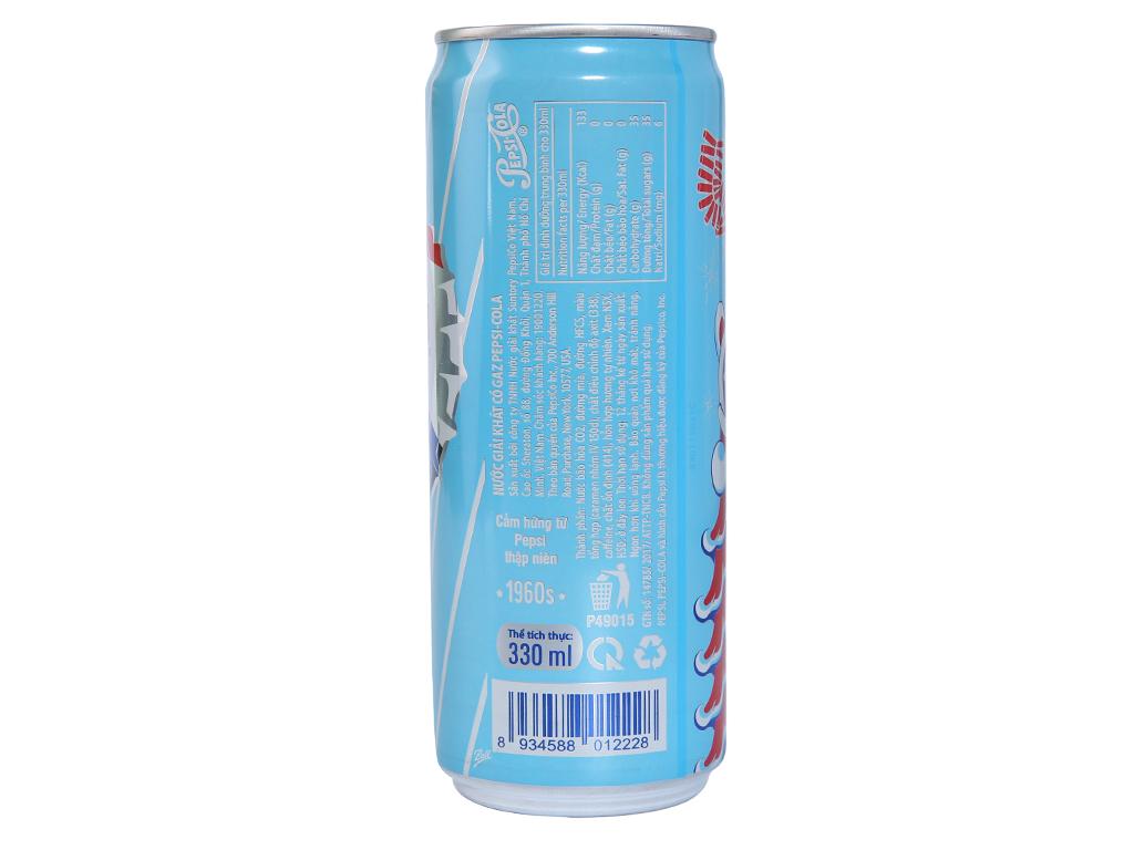 Lốc 6 lon nước ngọt Pepsi Cola 330ml 3
