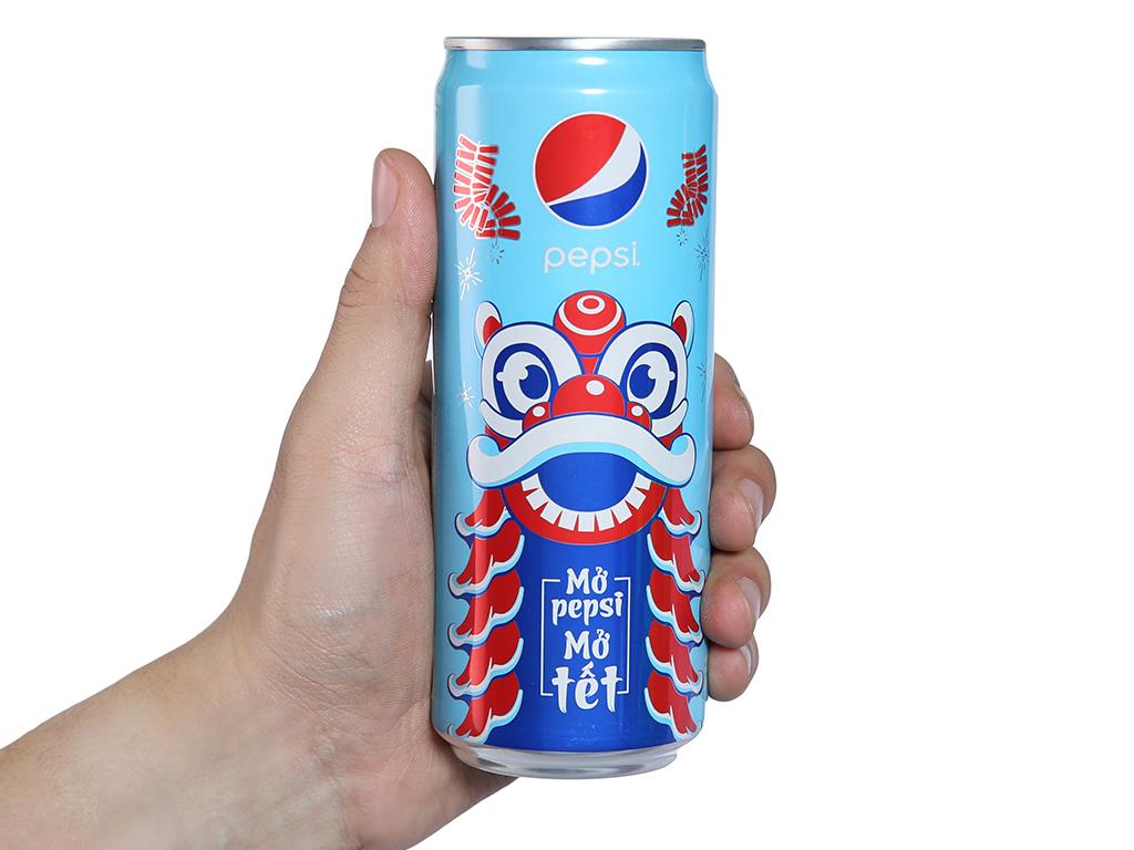 Lốc 6 lon nước ngọt Pepsi Cola 330ml 4