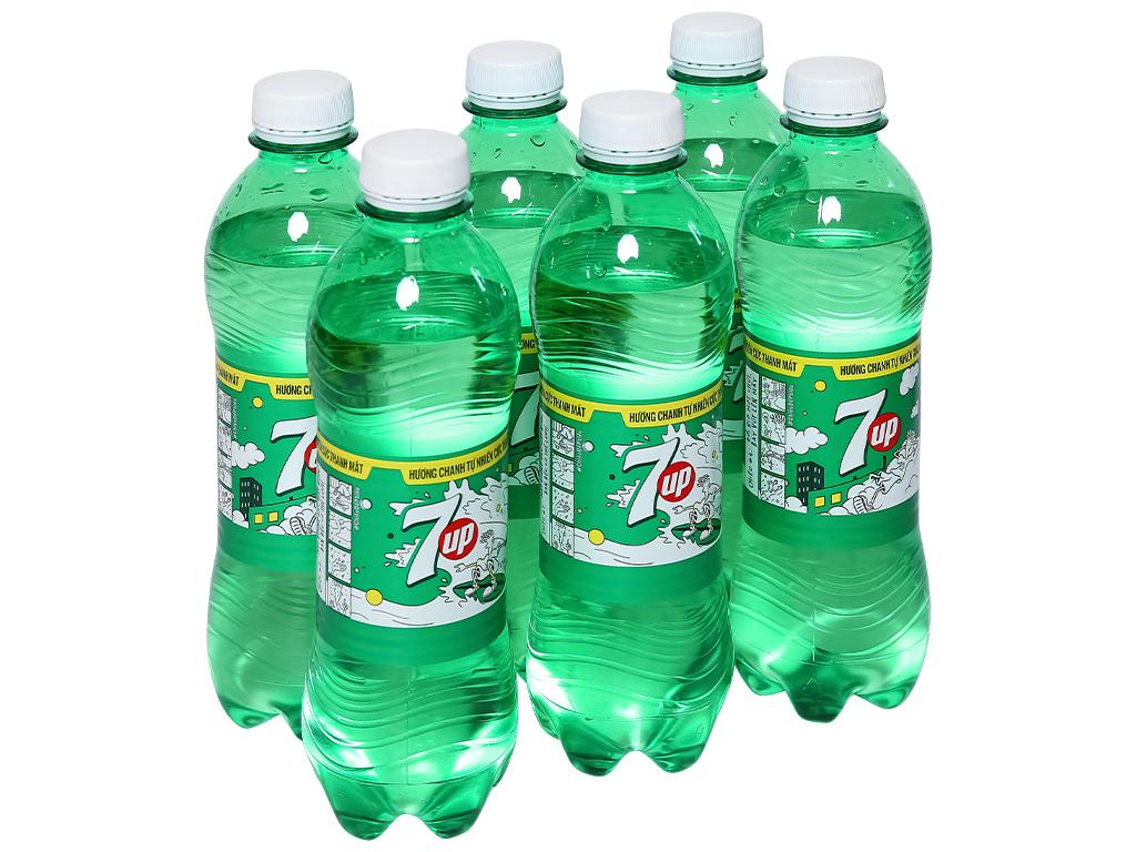 6 chai nước ngọt 7 Up vị chanh 390ml 1