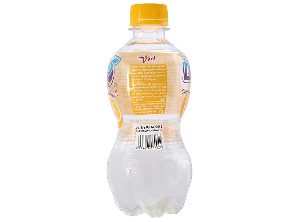 Thùng 24 chai nước khoáng có ga Leo vị chanh muối 350ml 3