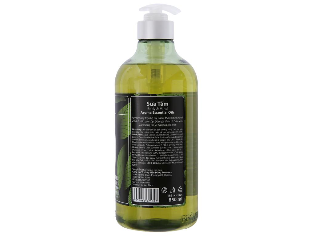 Sữa tắm Purité Aroma Essential Oils 850ml 3