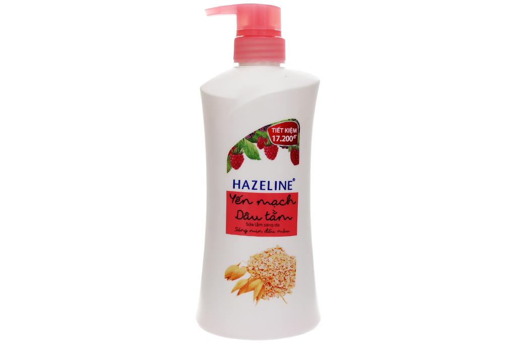 Sữa tắm sáng da Hazeline yến mạch và dâu tằm chai 700g