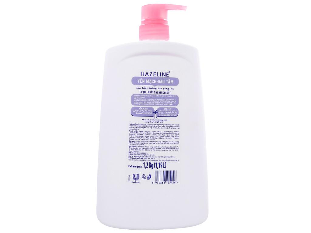 Sữa tắm dưỡng ẩm sáng da Hazeline yến mạch dâu tằm 1.19 lít 2
