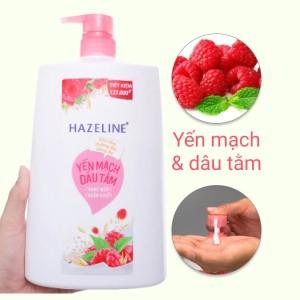 Sữa tắm dưỡng ẩm sáng da Hazeline yến mạch dâu tằm 1.19 lít