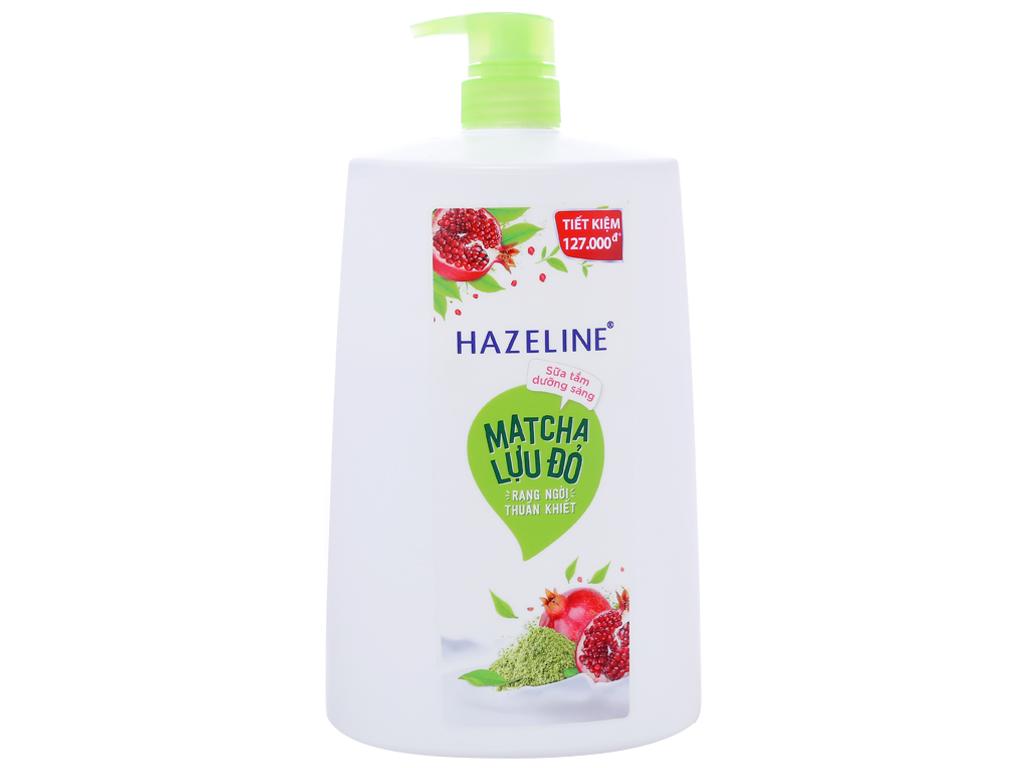 Sữa tắm dưỡng sáng Hazeline matcha lựu đỏ 1.19 lít 1