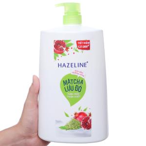 Sữa tắm dưỡng sáng Hazeline matcha lựu đỏ 1.19 lít