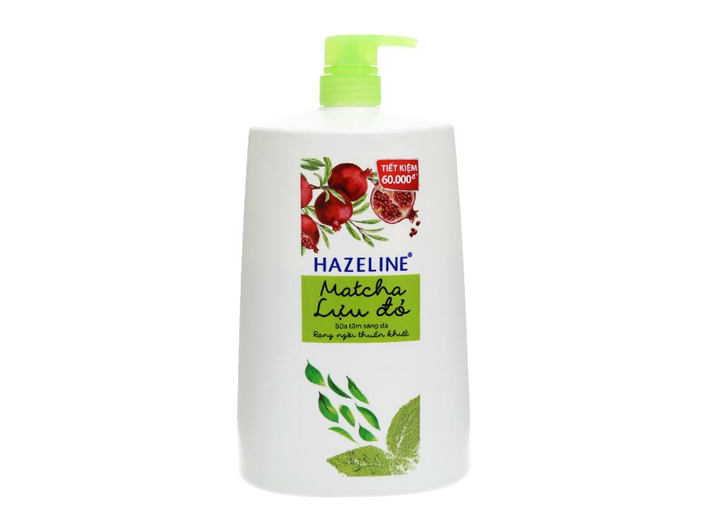 Sữa tắm Hazeline sáng da matcha & lựu đỏ 1.2kg 2
