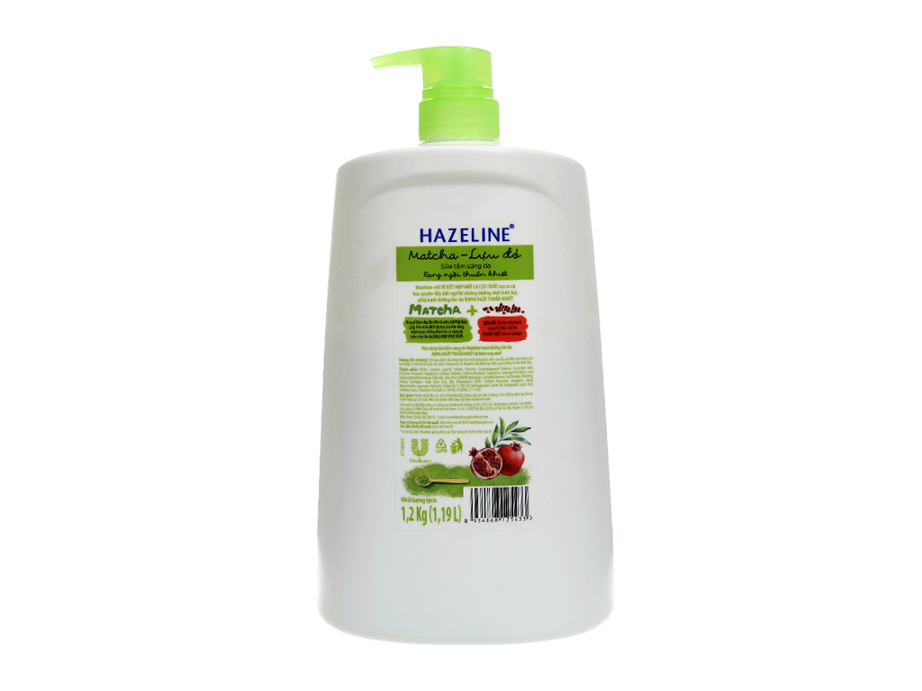 Sữa tắm Hazeline sáng da matcha & lựu đỏ 1.2kg 3