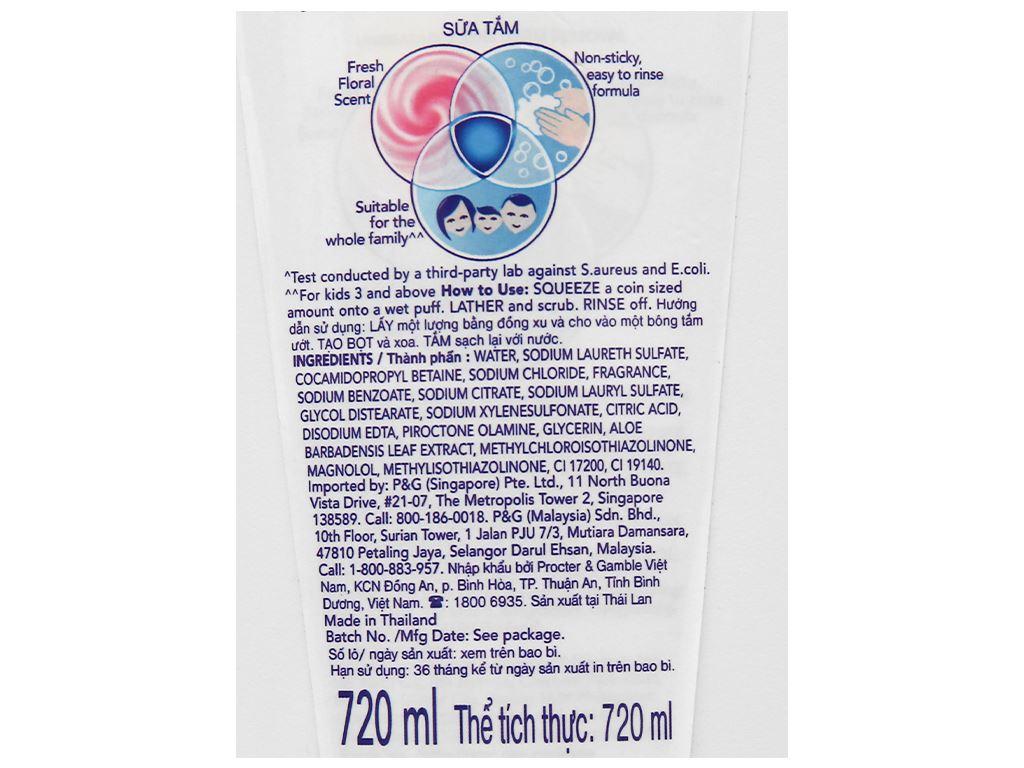 Sữa tắm Safeguard nha đam hương hoa thơm mát 720ml 3