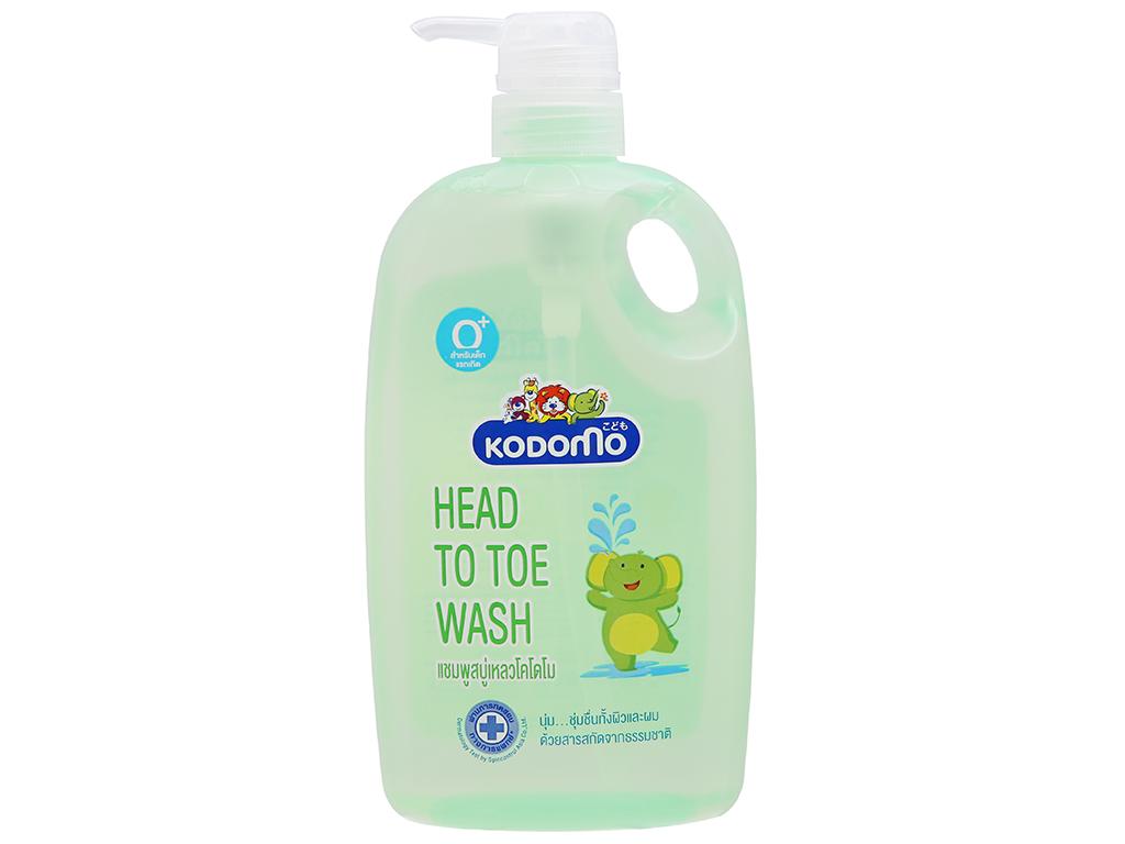 Gel tắm cho bé Kodomo head to toe 800ml 2