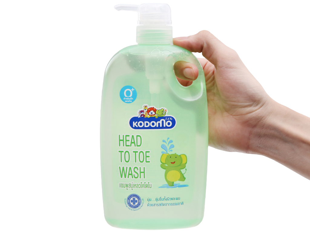 Gel tắm cho bé Kodomo head to toe 800ml 4