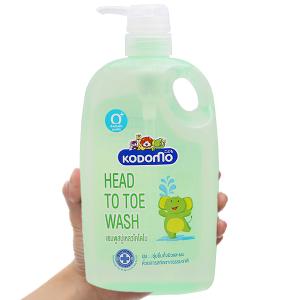 Gel tắm cho bé Kodomo head to toe 800ml