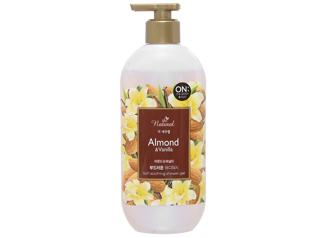 Sữa tắm ON THE BODY Natural Almond & Vanilla 500g 1