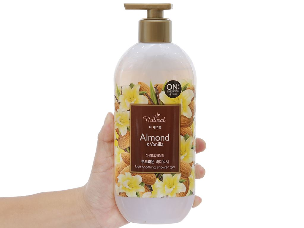 Sữa tắm ON THE BODY Natural Almond & Vanilla 500g 3